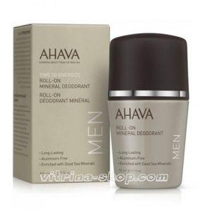 AHAVA Дезодорант минеральный шариковый для мужчин Deadsea Water, 50 мл.